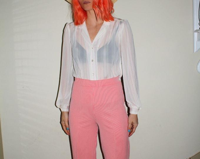 Vintage 70s | Striped Polyester Pants