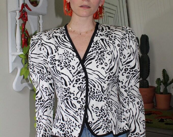 Snow Leopard Blazer