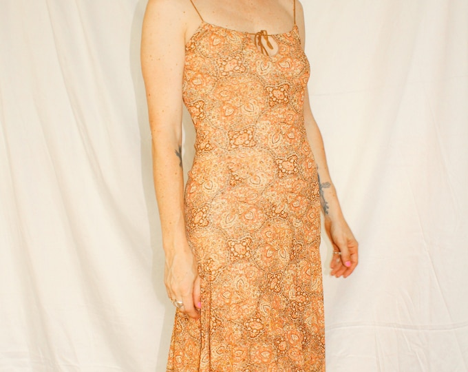 Vintage | Printed Kerchief Style Dress