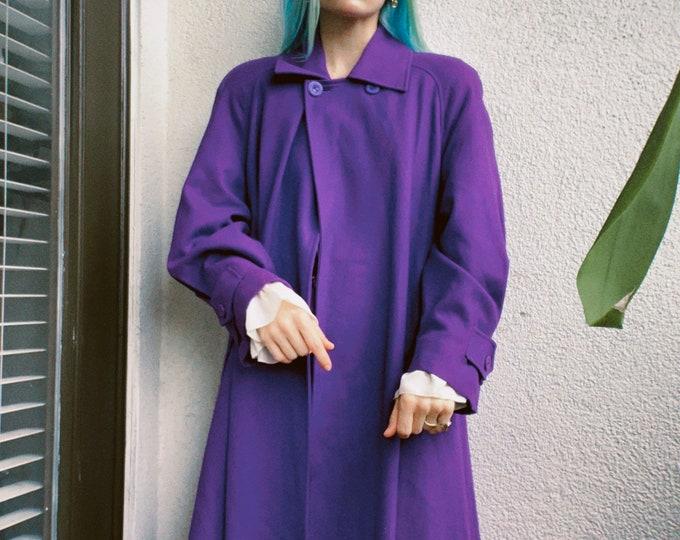 Vintage 80s | Violet Wool Coat