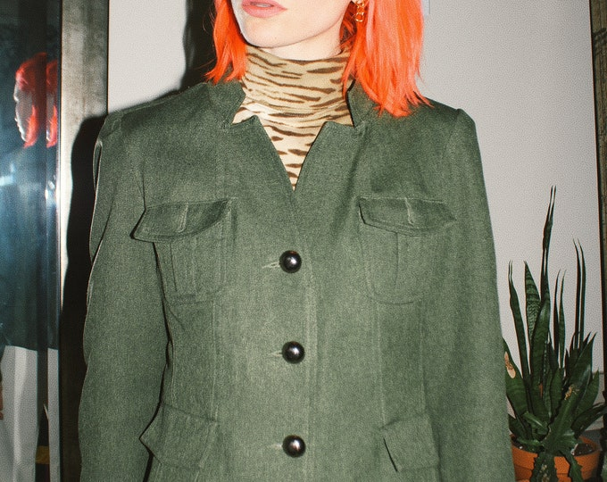 Army Green Military Inspired Jacket