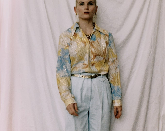 Vintage 80s | Baby Blue Mom Trousers