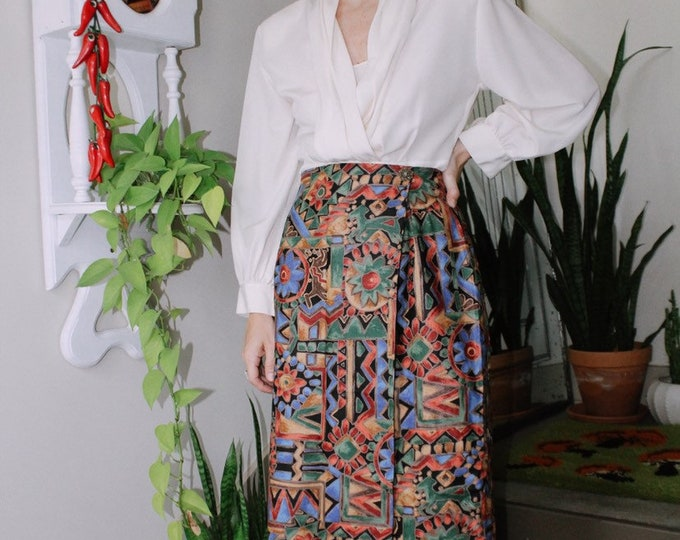 Colorful Wrap Skirt
