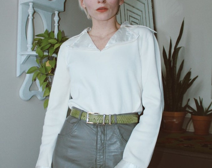 Exaggerated Collar Blouse