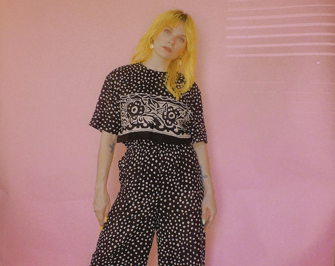 90s Polka Dot Pant Set