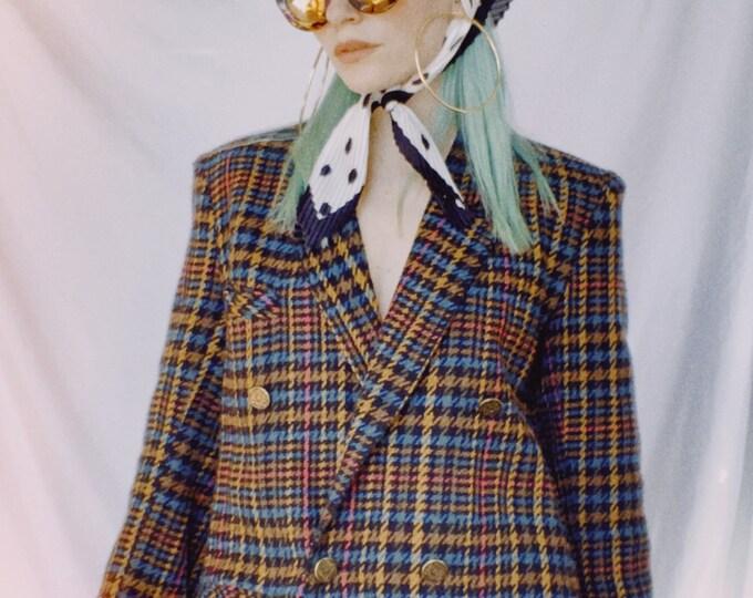 Vintage 70s | Tweed Plaid Blazer