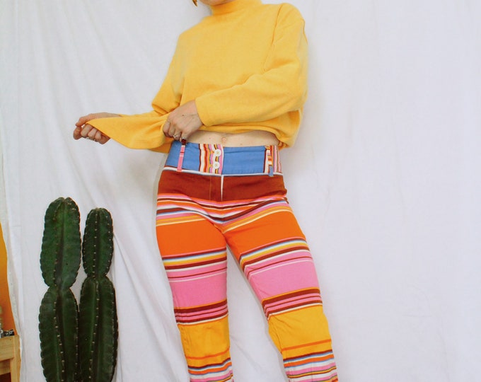 Vintage 90s | Color Craze Striped Pants