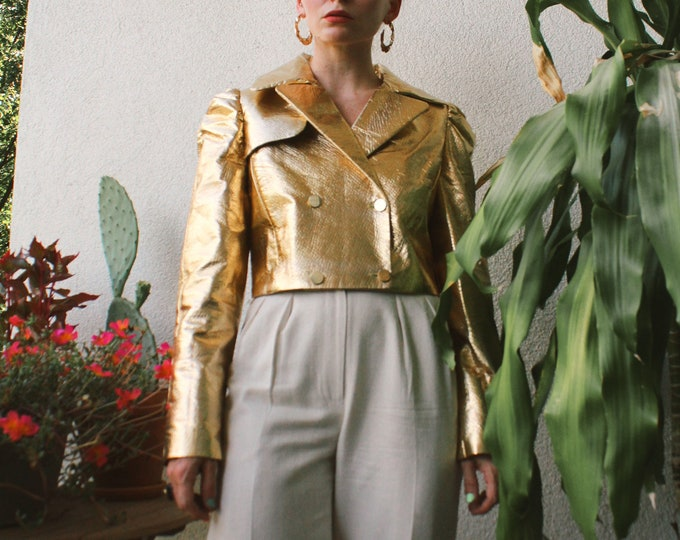 VTG Gold Foil Cropped Jacket