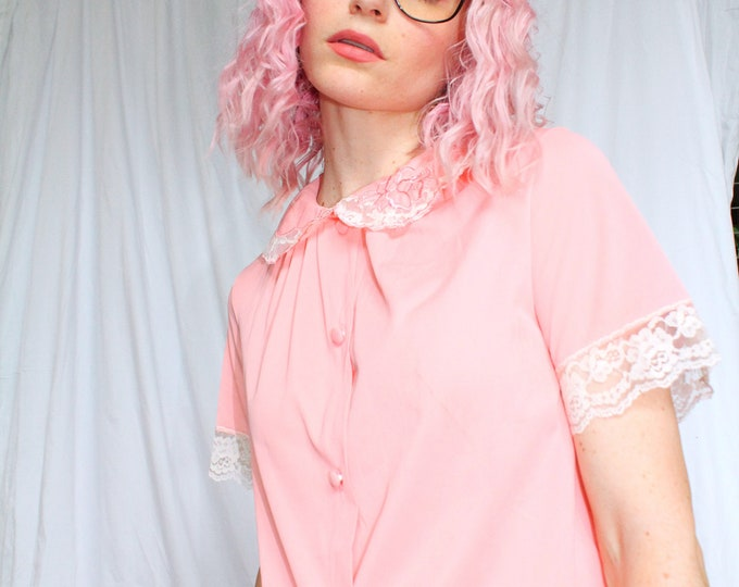 Vintage 60s | Pink Pajama Top