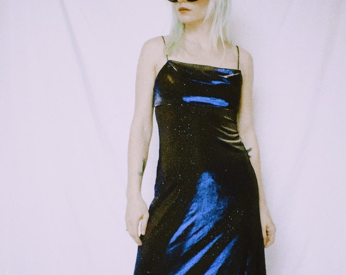 Vintage 90s | Purple/Gold Iridescent Dress