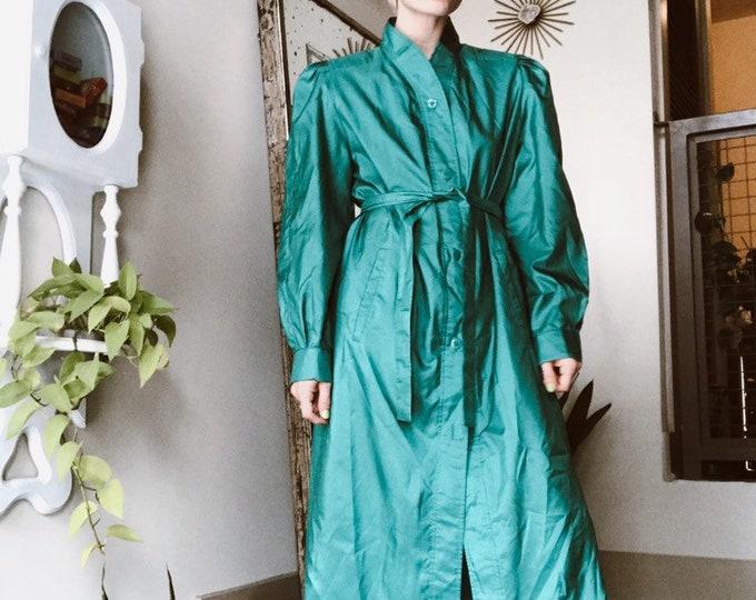 Turquoise Duster Coat