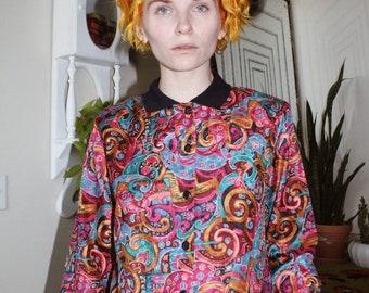 2b05b5d3 80s blouse | Etsy
