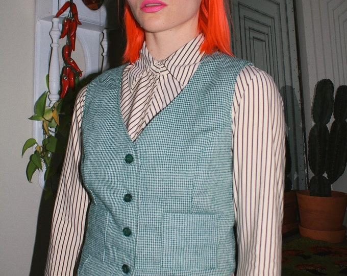 Green Houndstooth Waistcoat