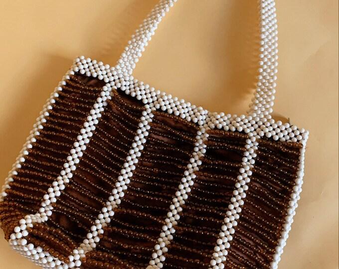 Vintage 70s Beaded Shoulder Bag