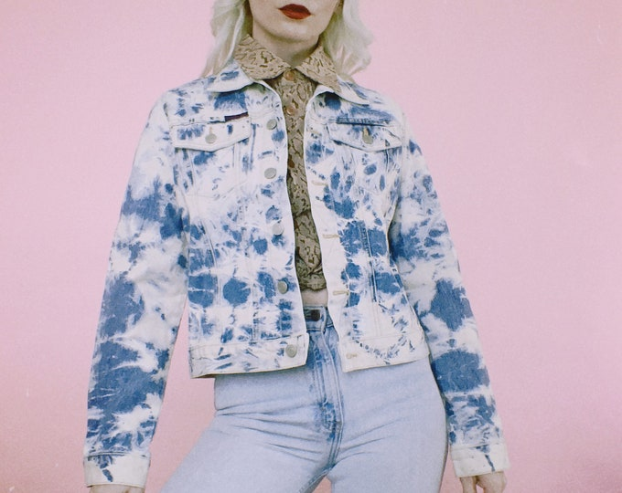 Vintage 90s Polo Bleached Denim Jacket