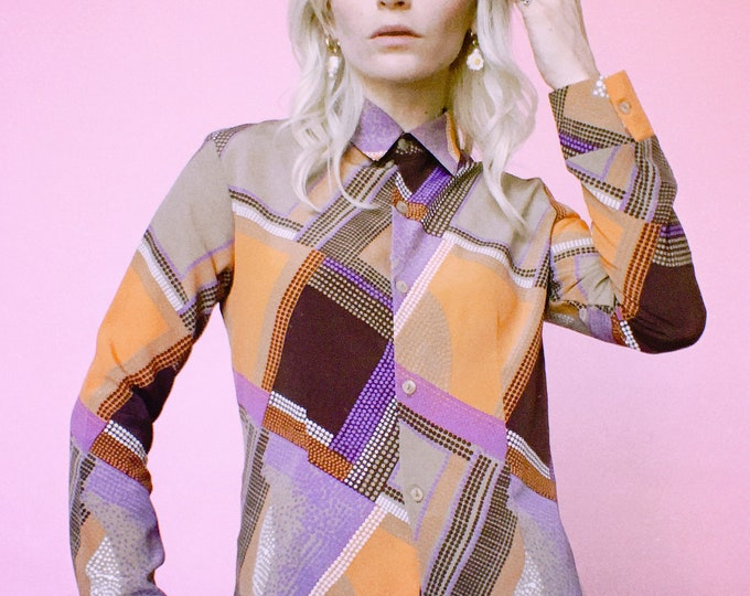 Vintage 90s does 70s Blouse