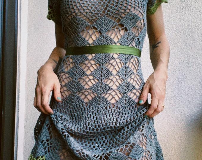 Vintage 90s | Betsey Johnson Crochet Dress