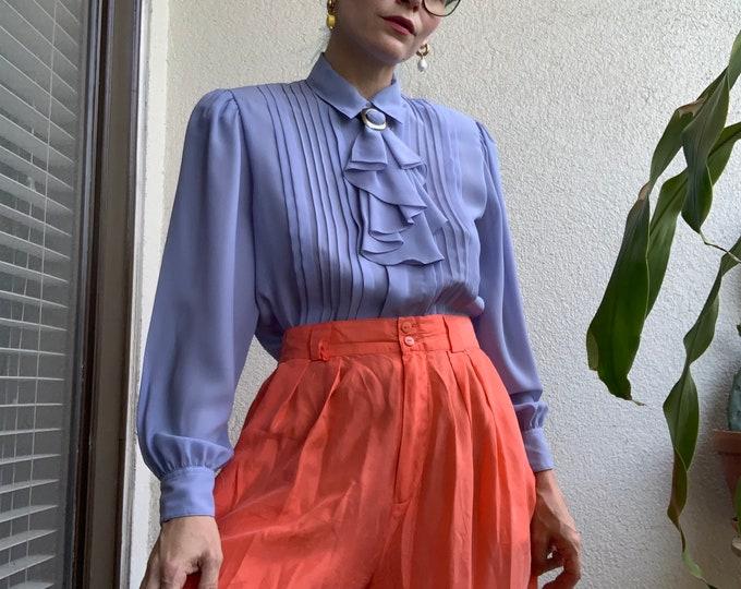 Vintage 80s Coral Silk Shorts
