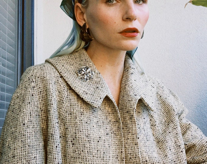 Vintage 50s | Tweed Swing Jacket
