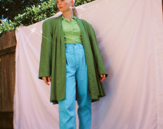 Vintage 80s | Green Swing Coat