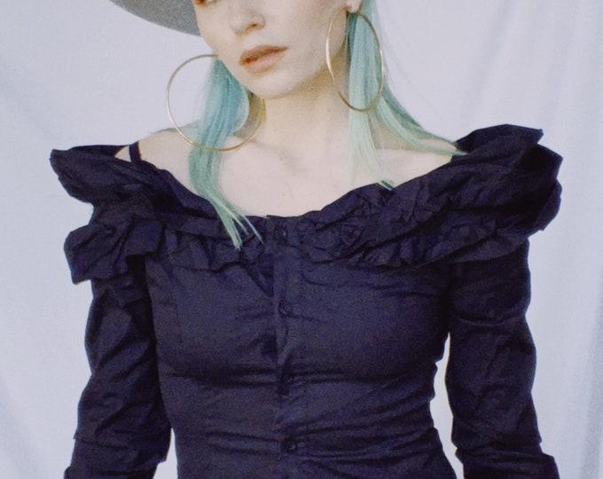 Vintage 90s | Gigi Florence Black Blouse