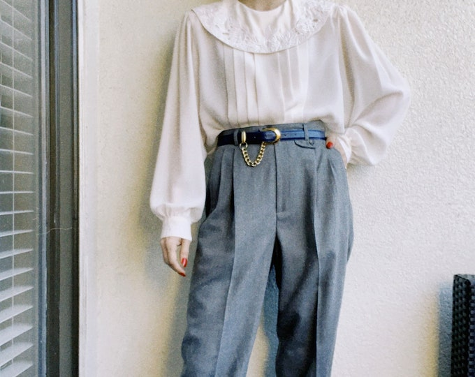 Vintage Grey RL Wool Trousers