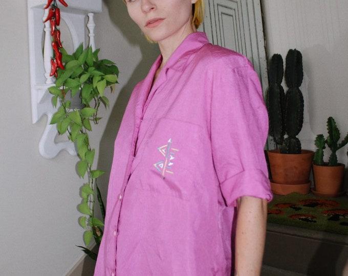 Fuchia Embellished Blouse