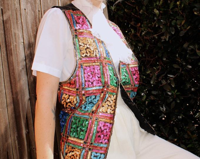 Vintage 1980s | Sequined Waistcoat