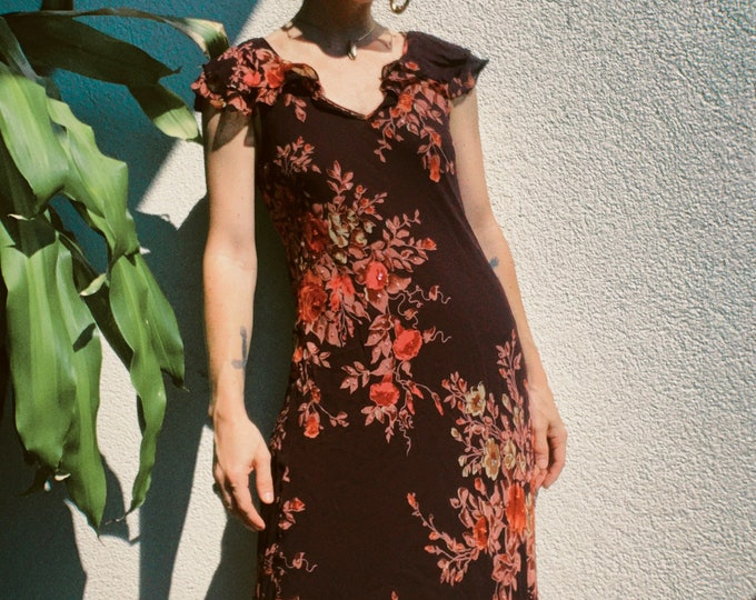 90s Moody Floral Dress