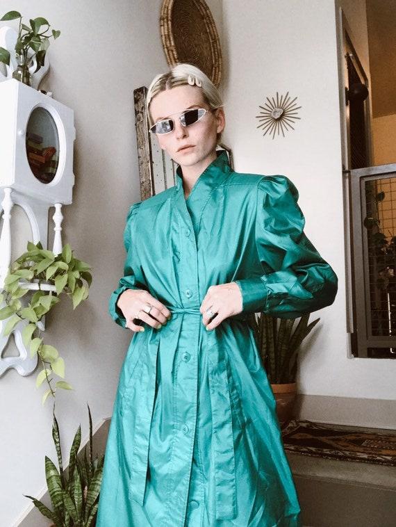 Turquoise Duster Coat - image 2