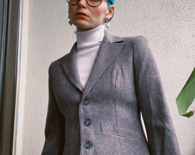 Vintage 70s Wool Cropped Blazer