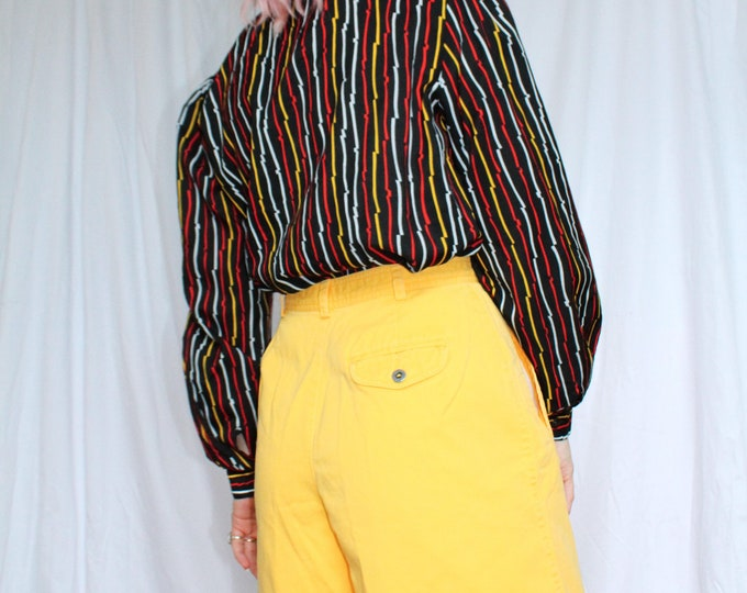 Vintage 80s | Mellow Yellow Mom Shorts
