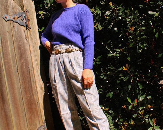 Vintage 1980s   Violet Lambswool/Angora Sweater
