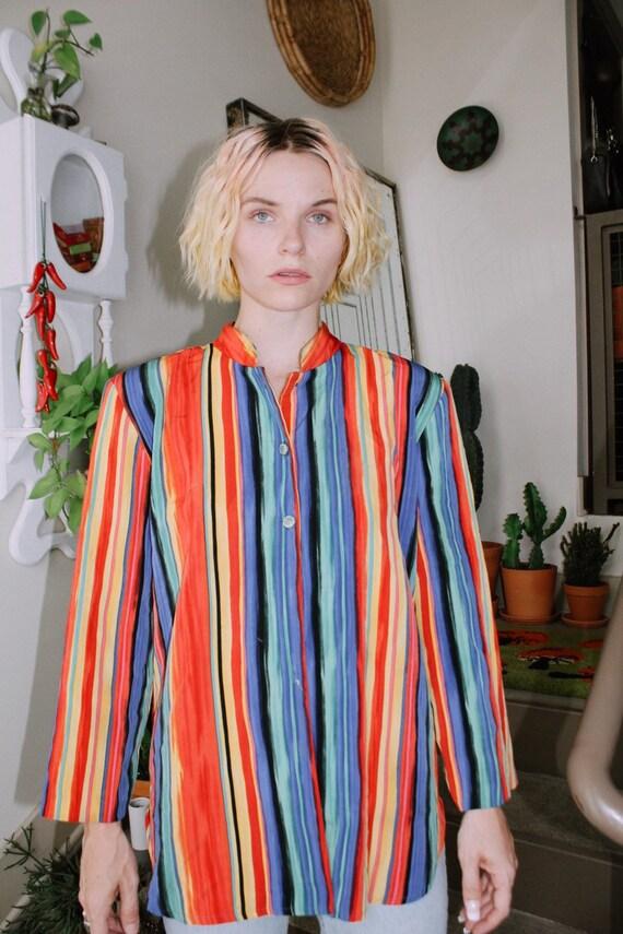 Rainbow Stripe Blouse
