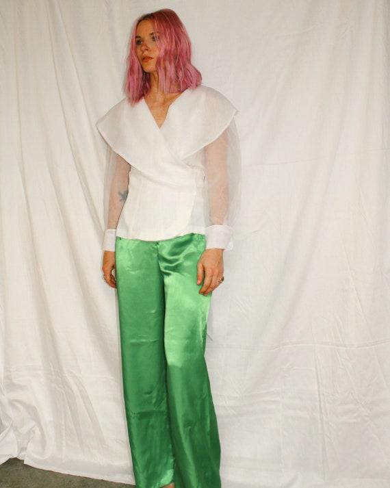 Vintage   Green Satin Pants