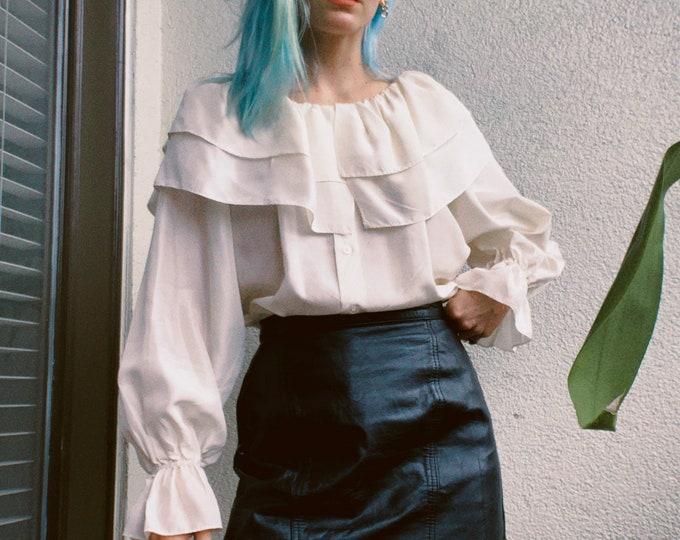 Vintage 80s   Winlit Black Leather Skirt