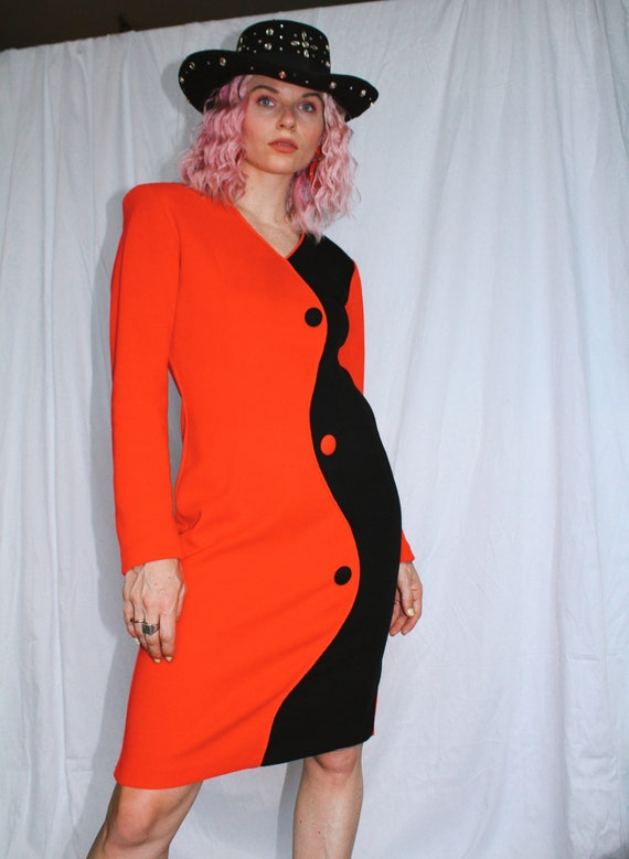 Vintage 80s | Color Block Dress