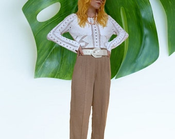 Vintage 80s Deadstock Knit Trousers