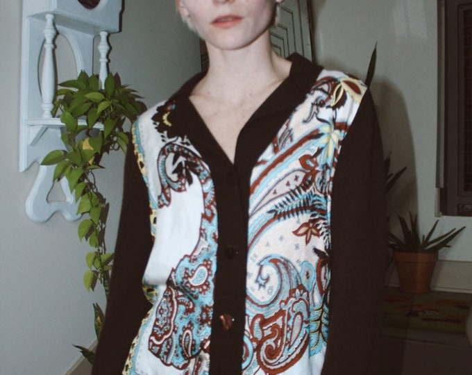 Cashmere/Silk Scarf Blouse