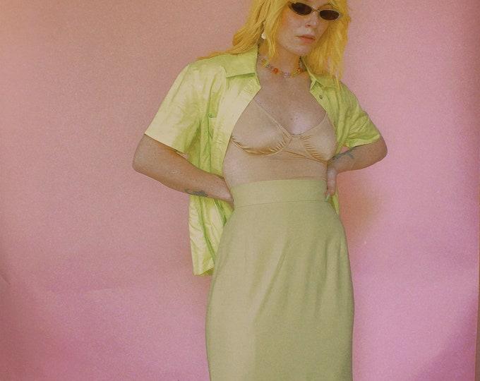 90s Lime Skirt