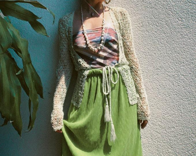 VTG 90s Green Midi Skirt