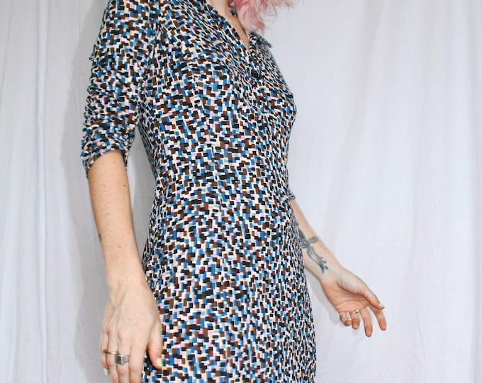 Vintage 90s | Printed Dress