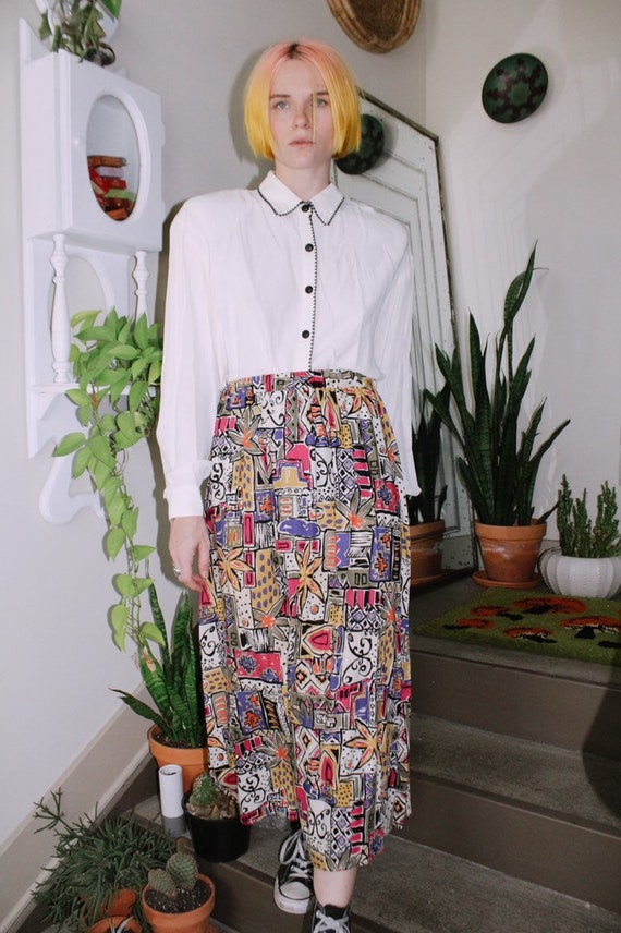 Bold Print Skirt