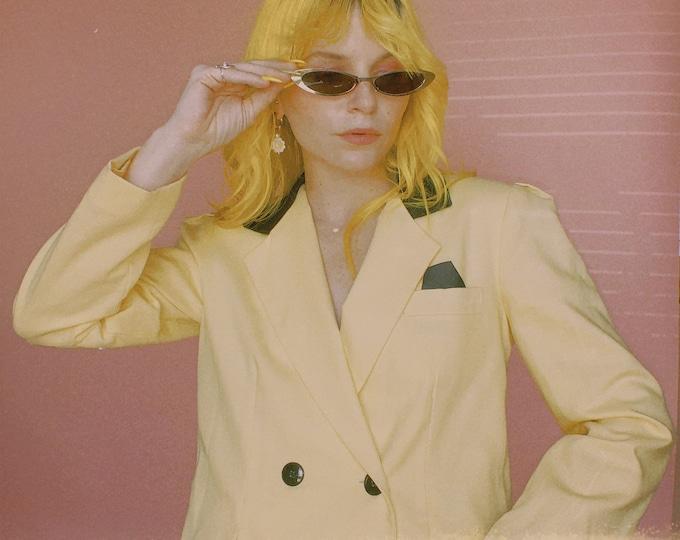 80s Yellow/Black Cropped Blazer