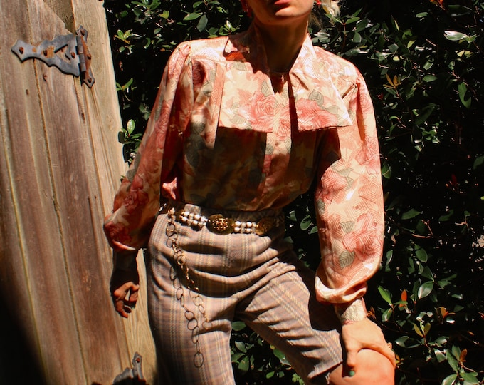 Vintage 80s   Dusty Rose Blouse