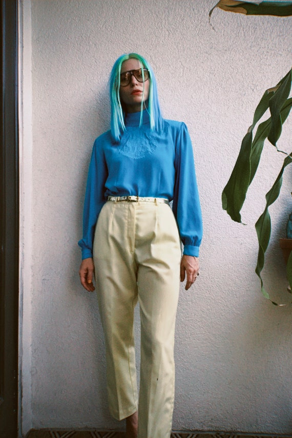 1980s Butter Yellow Trousers
