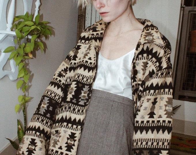 Woven Wool Mini Skirt