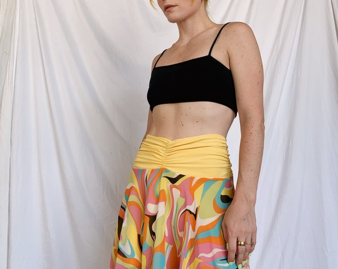 Vintage Psychedelic Asymmetrical Skirt/Top