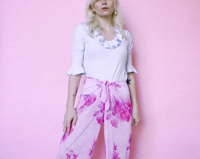 Vintage 90s   Sheer Floral Coverup Pants