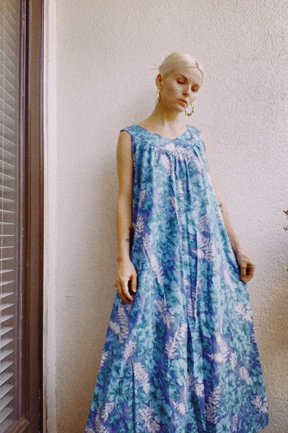 Vintage 60s | Basila Floral Cotton Maxi
